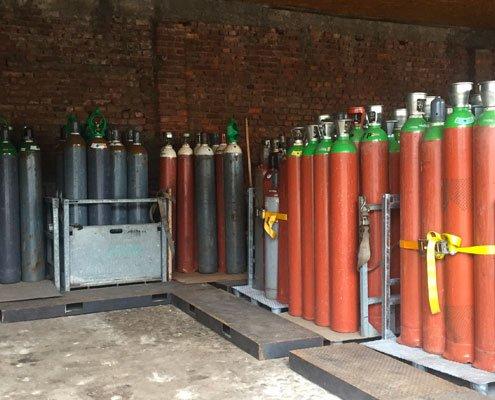 ricarica bombole gas tecnici